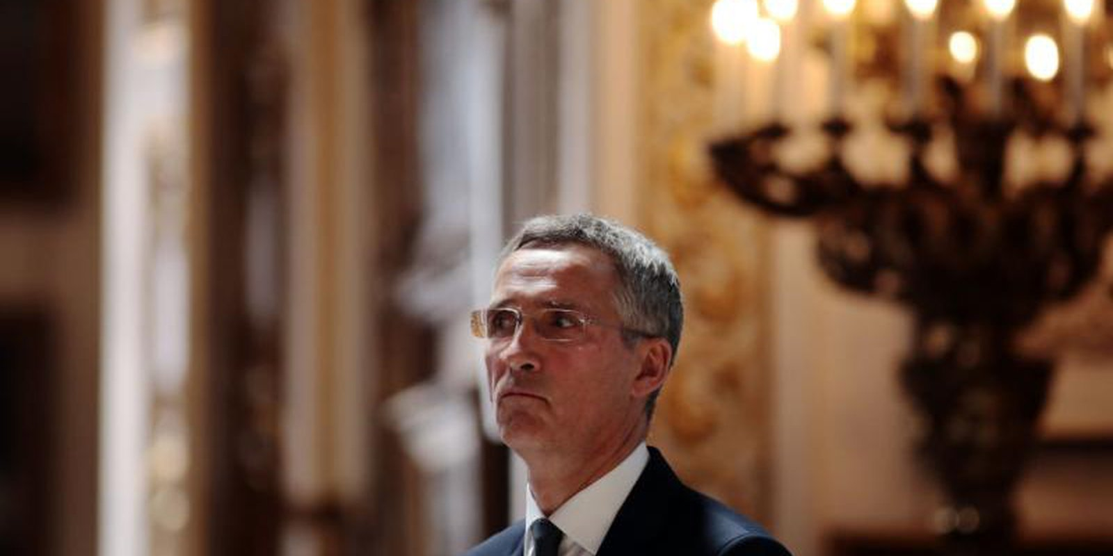 NATO Secretary-General Jens Stoltenberg delivers a speech in London before the NATO summit in June 2018. Photo: Getty Images.