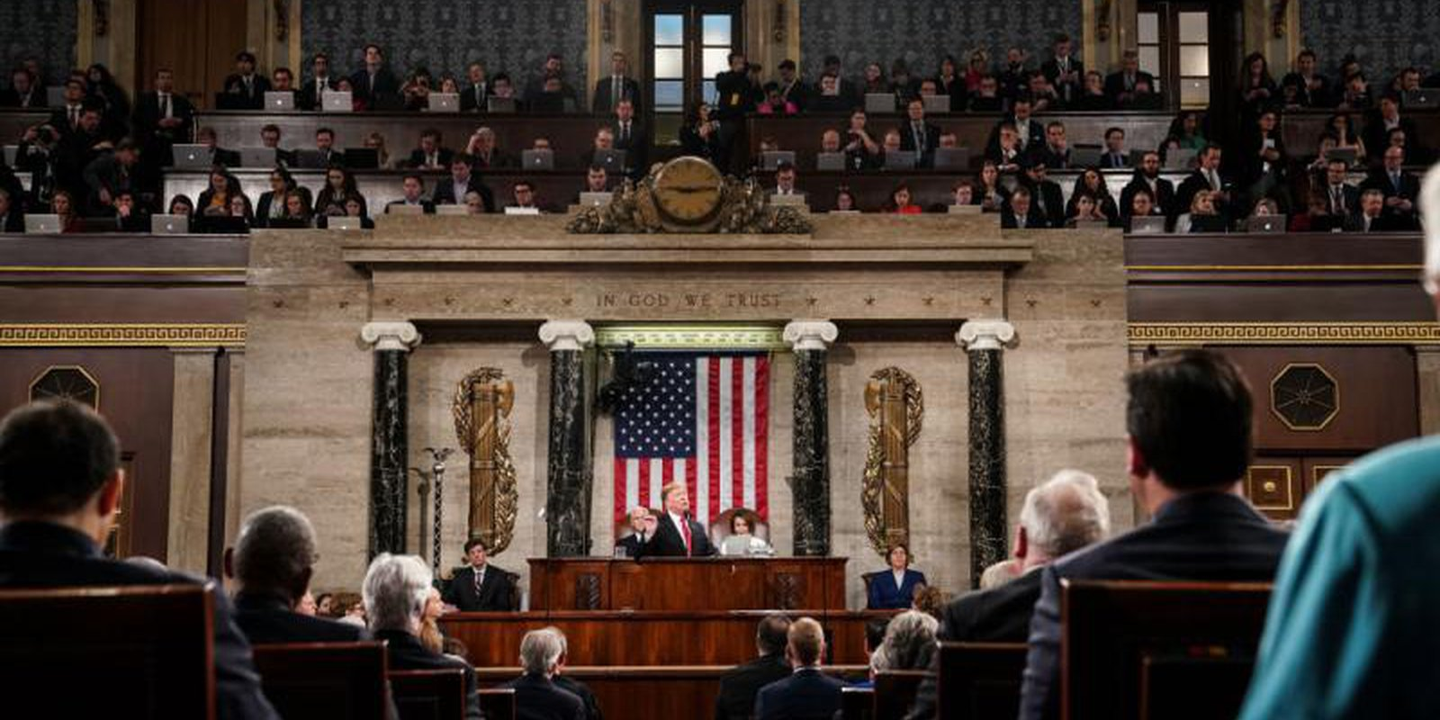 Donald Trump delivers the 2019 State of the Union address. Photo: Getty Images.