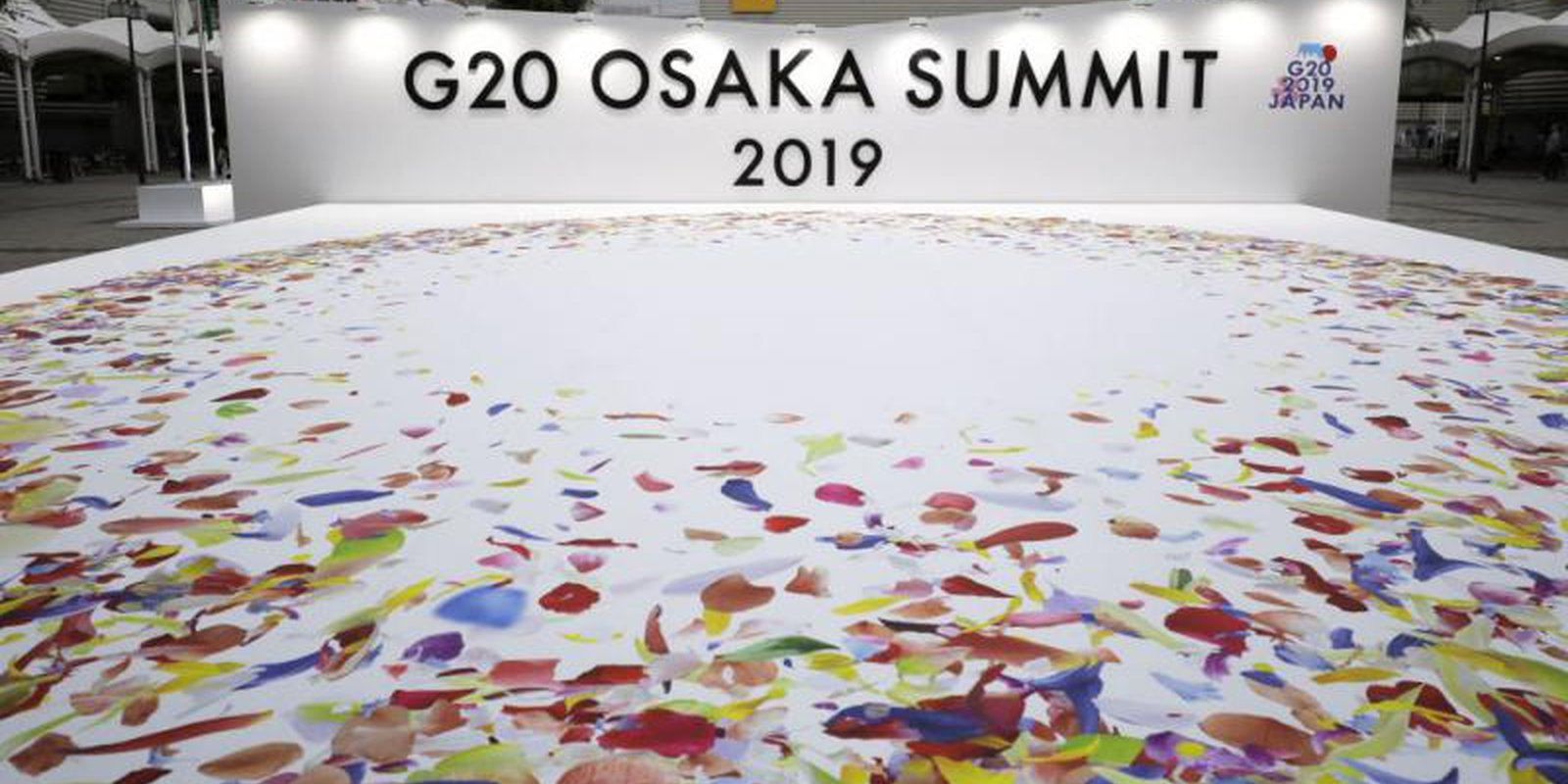 Signage for 2019 G20 summit in Osaka, Japan. Photo: Kiyoshi Ota/Bloomberg via Getty Images.