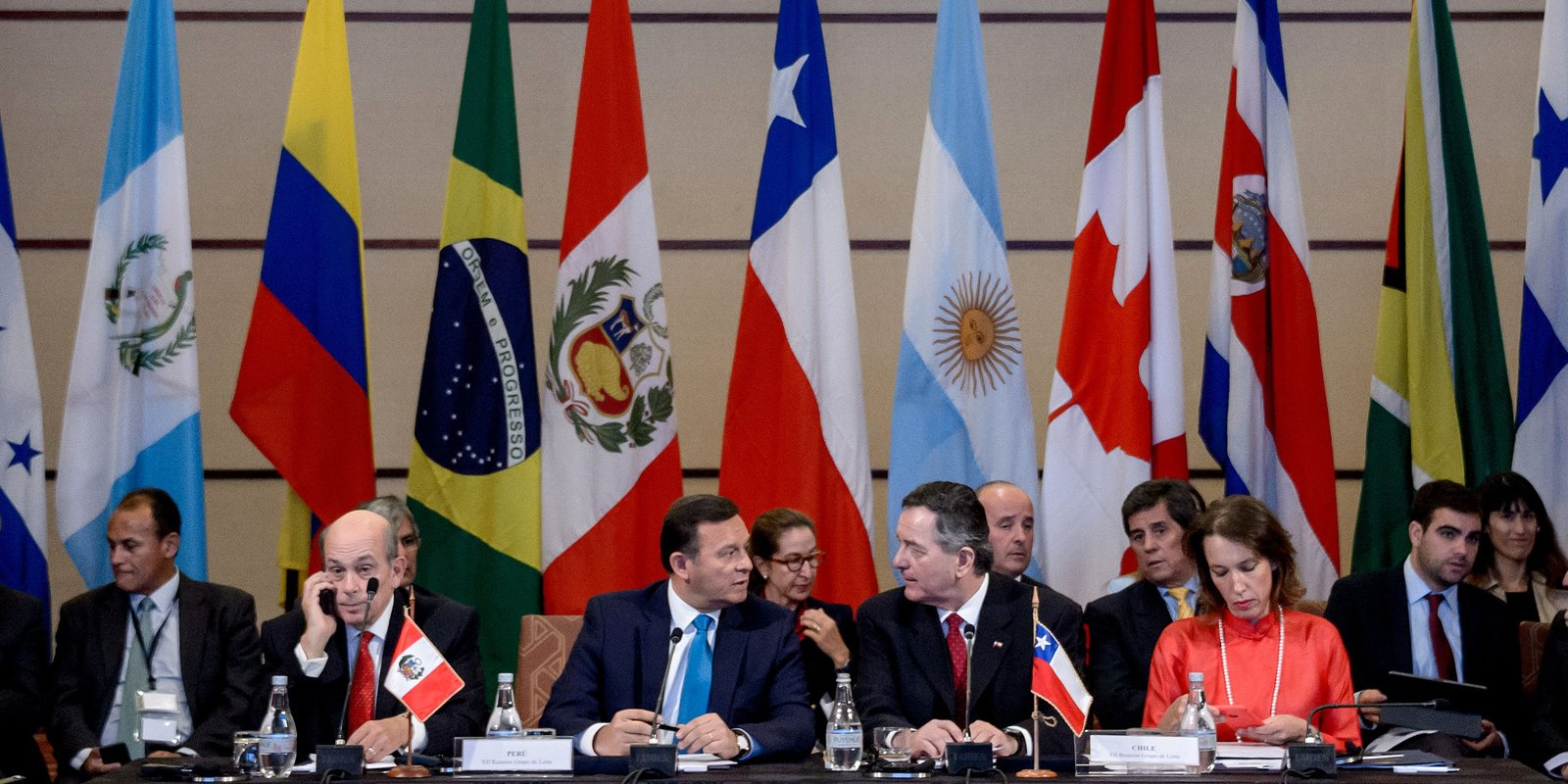 Foreign Ministers of nations of the Lima Group hold a meeting over the Venezuelan crisis, in Santiago, on April 15, 2019. Photo: MARTIN BERNETTI/AFP via Getty Images.