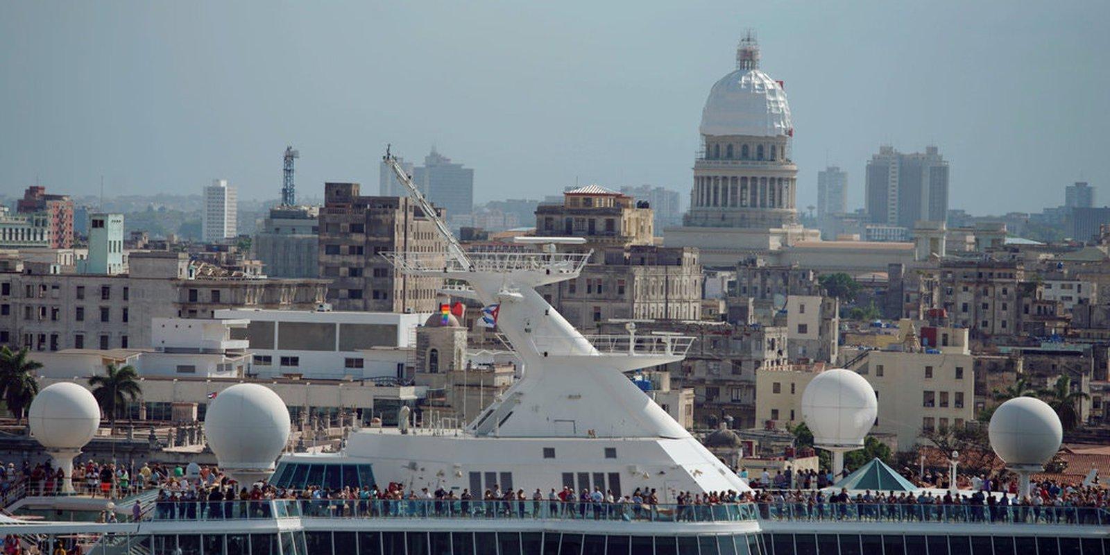 A Royal Caribbean Cruises ship leaving Havana on June 5.CreditCreditAlexandre Meneghini/Reuters